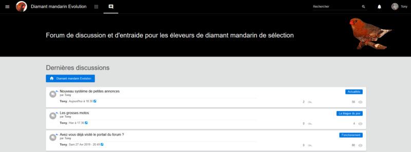 """Le bouton """"Dernières discussions"""" Captur17"""