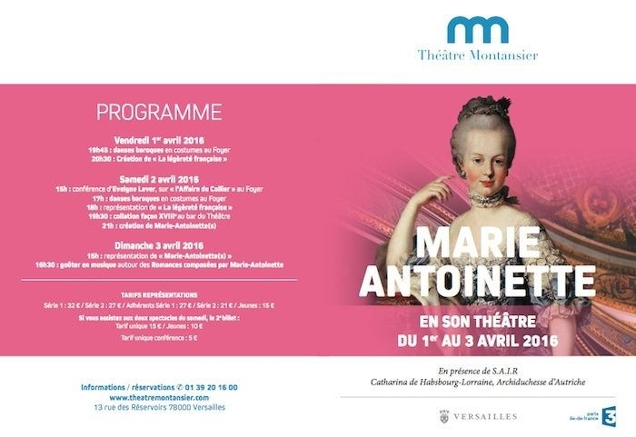 """Du 1er au 3 avril 2016 : """"Week-end dédié à Marie-Antoinette"""", au théâtre Montansier  Captur41"""