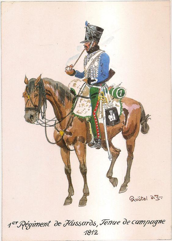 Cavalerie légère Hussard 1er Régiment 1812 0d453811