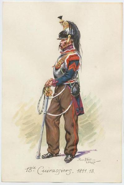Cuirassier campagne d'Espagne 1813 Métal Modèles 54mm 0e54c411