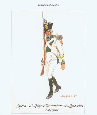 Naples Sergent de Fusilier infanterie de ligne 1813 MM54mm 5873e211
