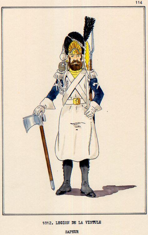 Légion de la Vistule Sapeur 1810 FIGURINE Chronos Miniatures 54mm. 78139311