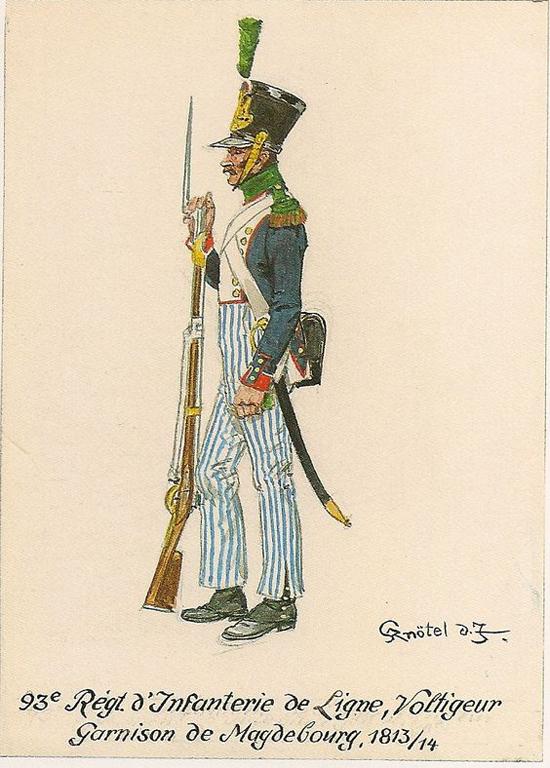 Chasseur Garde Nationale Garnison Magdebourg 1813 .54mm Métal modèles B38cf411