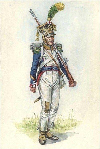Polonais Voltigeur du 14e de ligne division Dombrowski 1813 Bd573512
