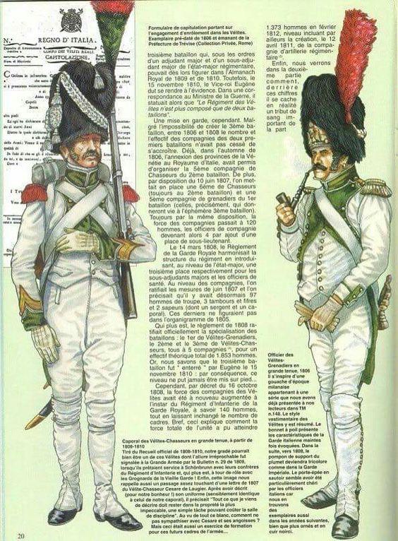 Royaume d'Italie Chasseur-Vélite de la Garde 1810 MM54mm Ca216711