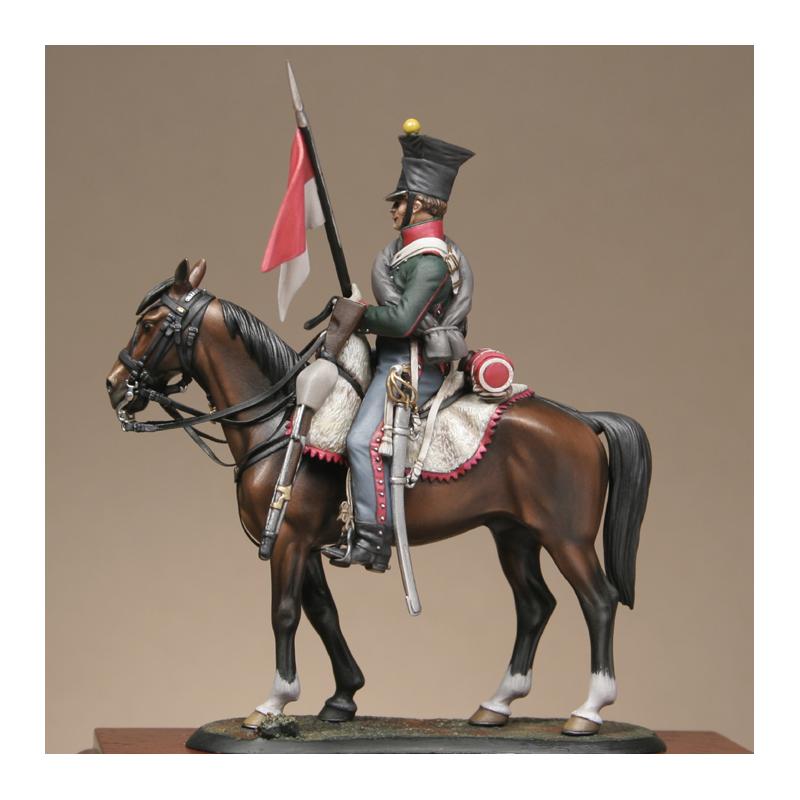 Hussard du 9ème Régiment en tenue de route après 1812 Chevau10