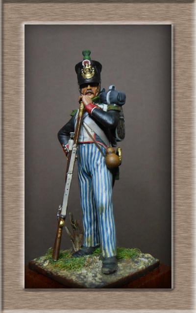 Chasseur Garde Nationale Garnison Magdebourg 1813 .54mm Métal modèles Dscn1123