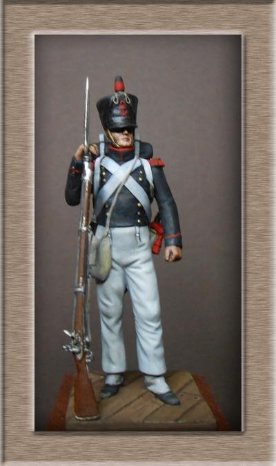Vitrine Alain 2 Voltigeur de la ligne retour d'Espagne 1814 MM54mm - Page 8 Dscn1210