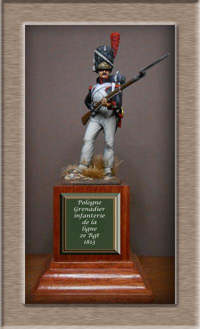 Pologne .Grenadier infanterie de la ligne 1813 .MM54mm transfo Dscn1516