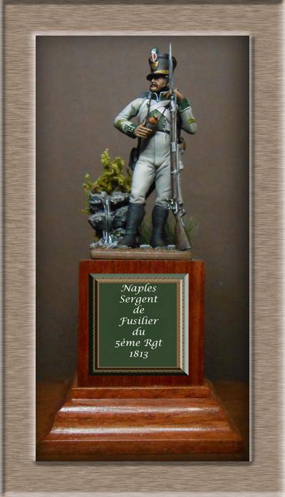Naples Sergent de Fusilier infanterie de ligne 1813 MM54mm Dscn1527