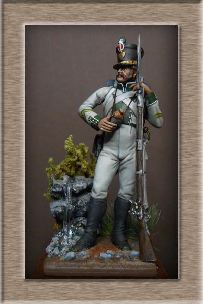 Naples Sergent de Fusilier infanterie de ligne 1813 MM54mm Dscn1528
