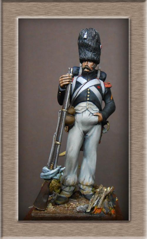 Chasseur à pied de la garde en tenue de route été 1808 MM54 transfo Dscn1916