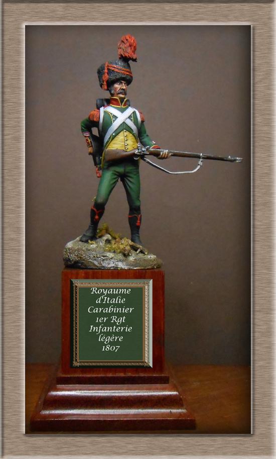 Royaume d'Italie Carabinier du 1er régiment d'infanterie légère 1807 EMI 54mm Dscn2014