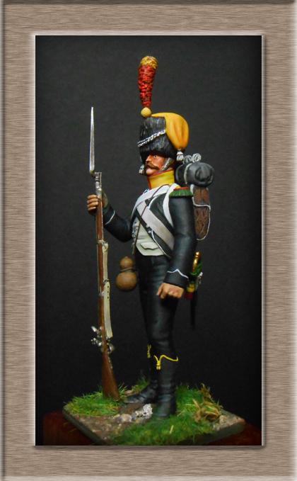 Voltigeur d'infanterie légère en  Colback 1809 MM54mm Dscn3918