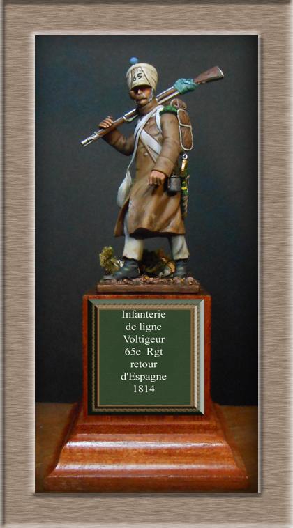 Vitrine Alain 2 Voltigeur de la ligne retour d'Espagne 1814 MM54mm Dscn4023