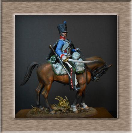 Vitrine Alain 2  Cavalerie légère   Hussard du 14e régiment 1814 MM54mm - Page 11 Dscn4111