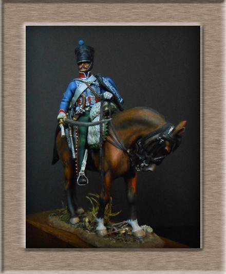 Vitrine Alain 2  Cavalerie légère   Hussard du 14e régiment 1814 MM54mm - Page 11 Dscn4113