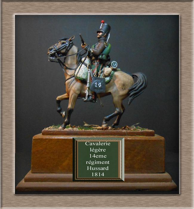 Cavalerie légère Hussard 14e Régiment 1814 MM54mm Dscn4137