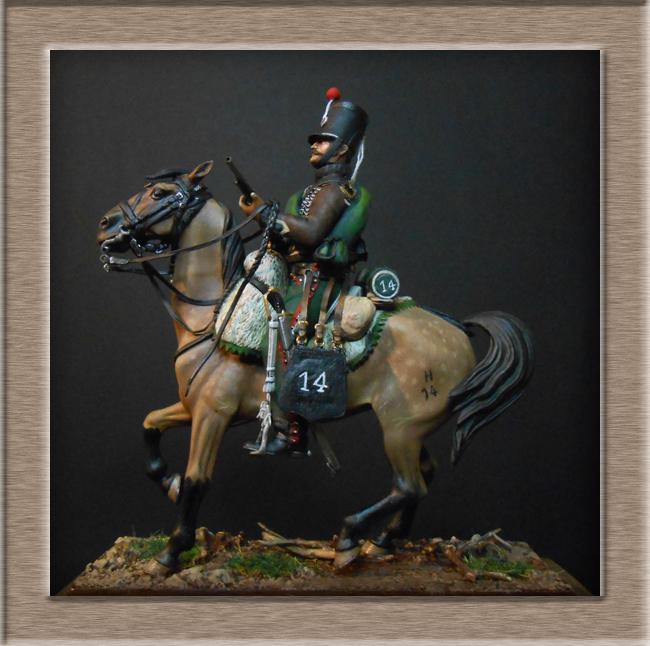Cavalerie légère Hussard 14e Régiment 1814 MM54mm Dscn4139