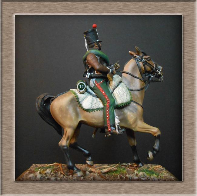 Cavalerie légère Hussard 14e Régiment 1814 MM54mm Dscn4213