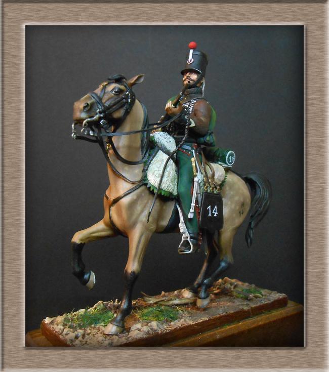 Cavalerie légère Hussard 14e Régiment 1814 MM54mm Dscn4214