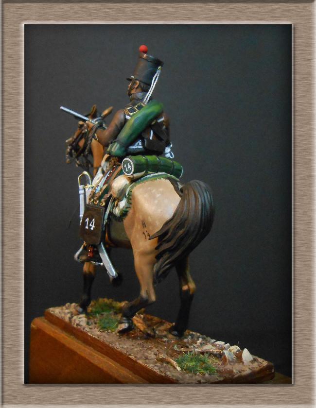 Cavalerie légère Hussard 14e Régiment 1814 MM54mm Dscn4215