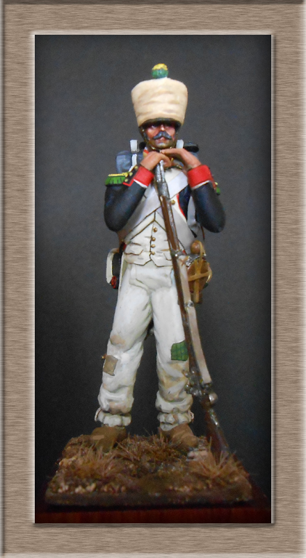 Mise en peinture sculpture Voltigeur 1812 Dscn4314