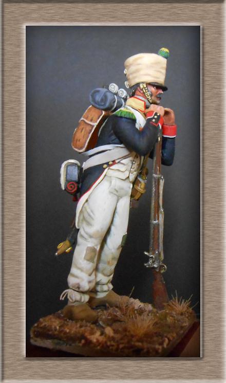 Mise en peinture sculpture Voltigeur 1812 Dscn4315