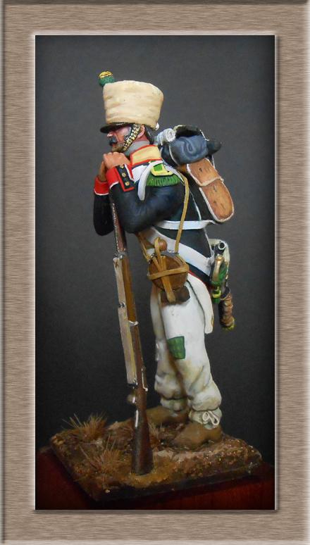 Mise en peinture sculpture Voltigeur 1812 Dscn4316