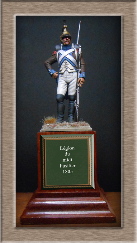 Vitrine Alain 2Régiment Joseph Napoléon .Voltigeur 1809 (Chronos miniatures 54 mm ) - Page 13 Dscn4415