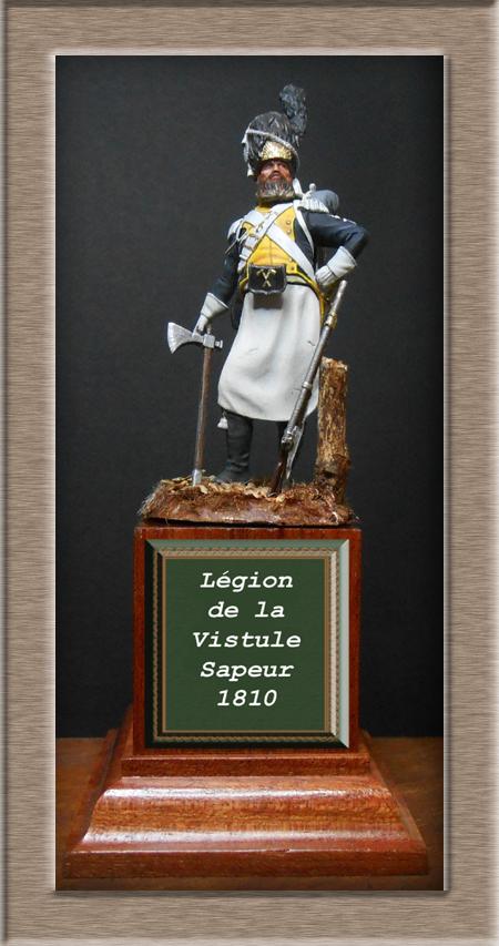 Légion de la Vistule Sapeur 1810 FIGURINE Chronos Miniatures 54mm. Dscn4422