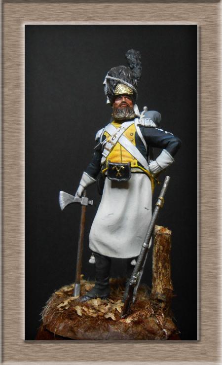 Légion de la Vistule Sapeur 1810 FIGURINE Chronos Miniatures 54mm. Dscn4423