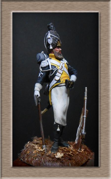 Légion de la Vistule Sapeur 1810 FIGURINE Chronos Miniatures 54mm. Dscn4424