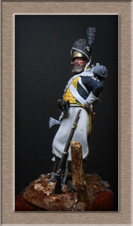 Légion de la Vistule Sapeur 1810 FIGURINE Chronos Miniatures 54mm. Dscn4425
