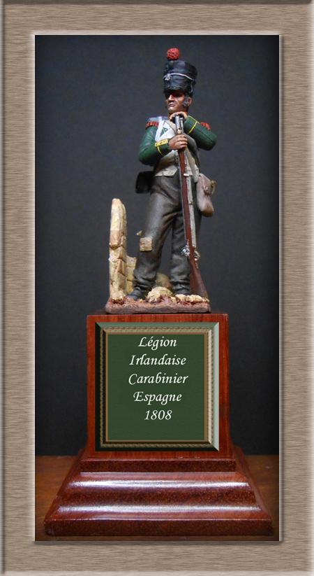 Légion Irlandaise Carabinier Espagne 1808 (SOGA miniatures résine 54mm) Dscn4530