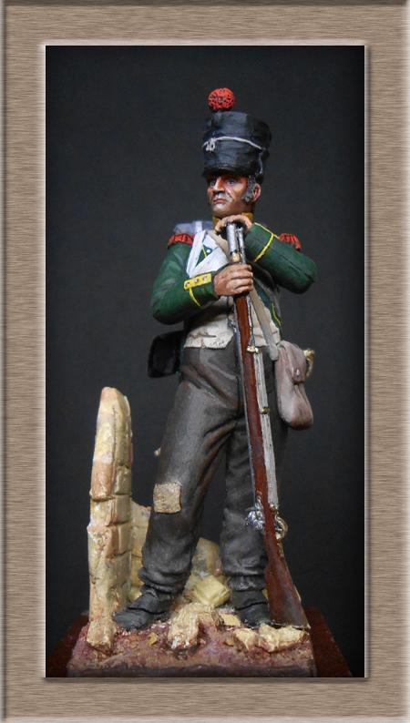Légion Irlandaise Carabinier Espagne 1808 (SOGA miniatures résine 54mm) Dscn4531