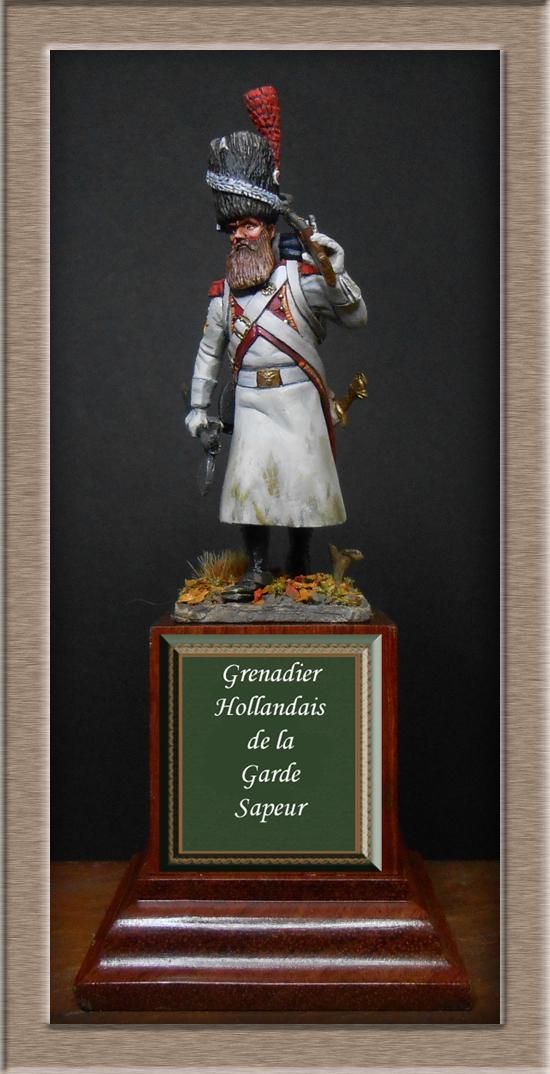 Sapeur des grenadiers  hollandais de la Garde SOGA  Miniatures 54mm résine Dscn4628