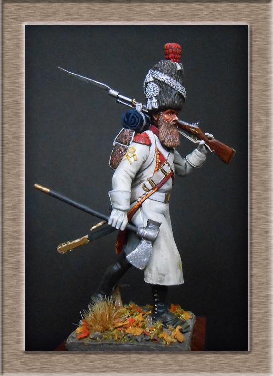 Sapeur des grenadiers  hollandais de la Garde SOGA  Miniatures 54mm résine Dscn4630