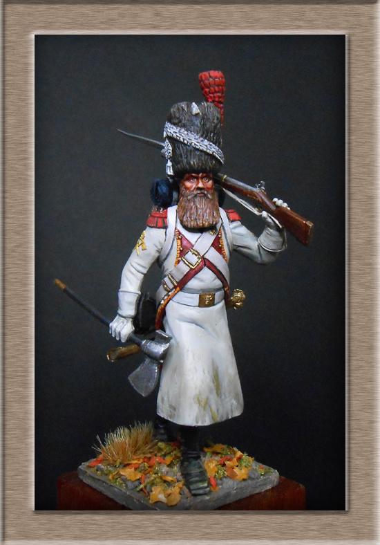 Sapeur des grenadiers  hollandais de la Garde SOGA  Miniatures 54mm résine Dscn4631