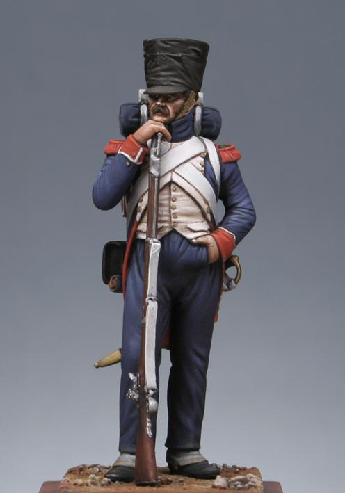 Chasseur à pied de la garde en tenue de route été 1808 MM54 transfo Fcgi111