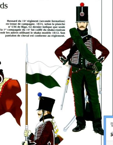 Cavalerie légère Hussard 14e Régiment 1814 MM54mm Hussar11