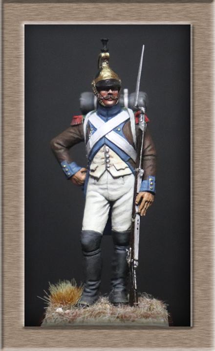 Vitrine Alain 2Régiment Joseph Napoléon .Voltigeur 1809 (Chronos miniatures 54 mm ) - Page 13 Img_1310