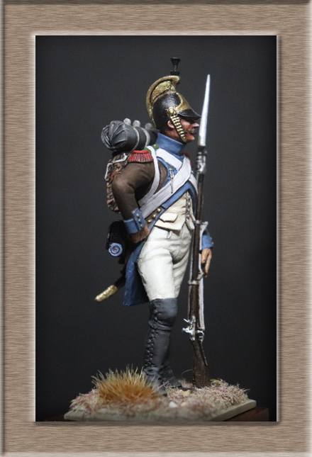 Vitrine Alain 2Régiment Joseph Napoléon .Voltigeur 1809 (Chronos miniatures 54 mm ) - Page 13 Img_1311