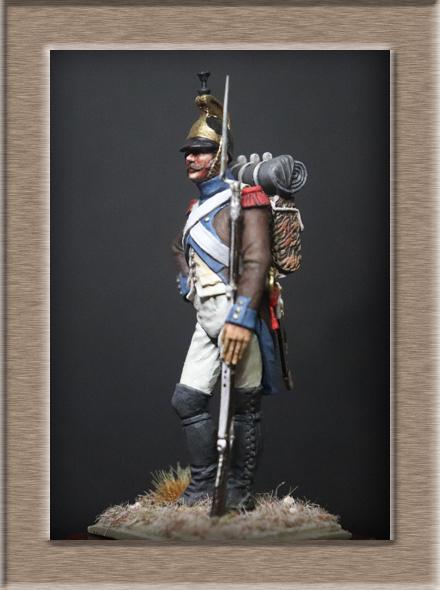 Vitrine Alain 2Régiment Joseph Napoléon .Voltigeur 1809 (Chronos miniatures 54 mm ) - Page 13 Img_1312