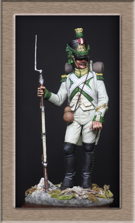 Vitrine Alain 2Régiment Joseph Napoléon .Voltigeur 1809 (Chronos miniatures 54 mm ) - Page 13 Img_1413