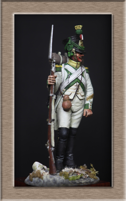 Vitrine Alain 2Régiment Joseph Napoléon .Voltigeur 1809 (Chronos miniatures 54 mm ) - Page 13 Img_1510