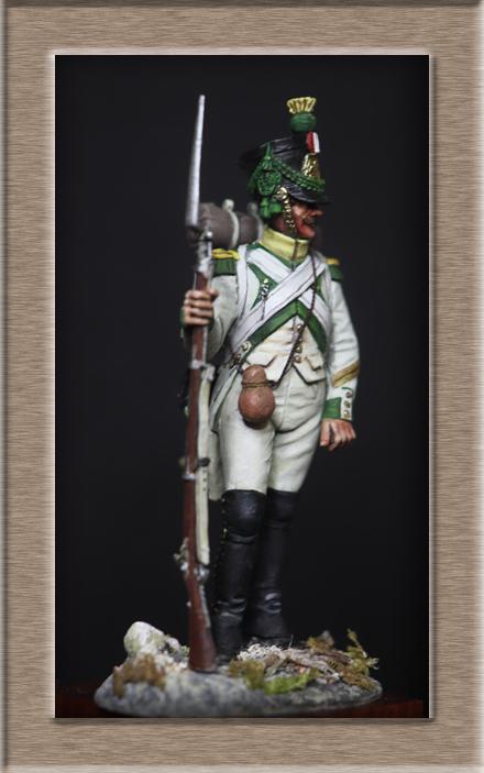 Voltigeur régiment Joseph Napoléon 1809 Chronos Miniature (54mm) Img_1512