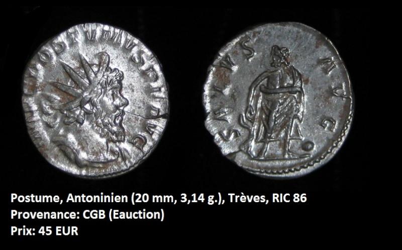Vente de quelques monnaies Postum11