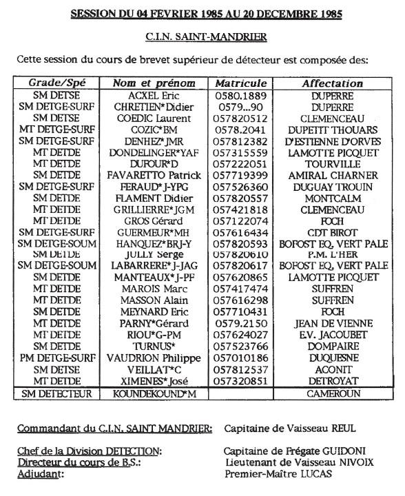 ALBUM PHOTOS DE COURS - ÉCOLE DES DÉTECTEURS ST MANDRIER 00112
