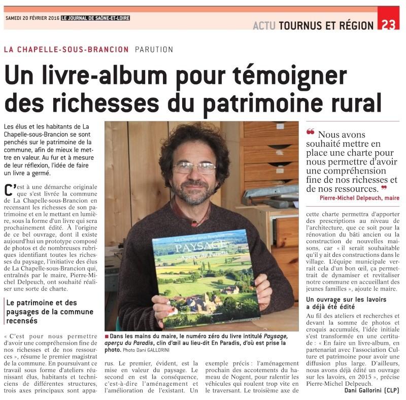 LA CHAPELLE-SOUS-BRANCION - PARUTION Un livre-album pour témoigner des richesses du patrimoine rural Livre10